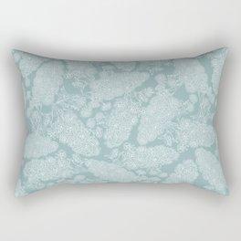 Brompton of Third Eye Chakra pattern grey Rectangular Pillow