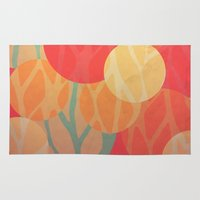 the thing Area & Throw Rugs featuring Spring Thing by VessDSign