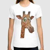 funky T-shirts featuring funky giraffe by Ancello