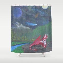 Dragon's glare Shower Curtain