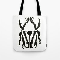 insects Tote Bags featuring Insects by Kim Cooper Collections