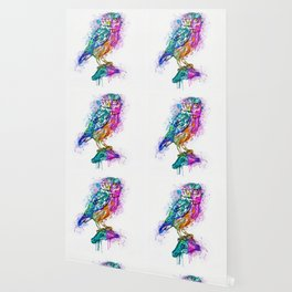 Colorful Owl Wallpaper