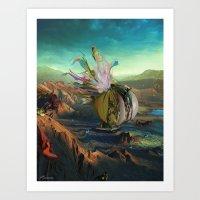 archan nair Art Prints featuring Dua:Talum by Archan Nair