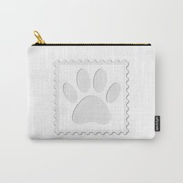 Dog Paw Print Cut Out Carry-All Pouch