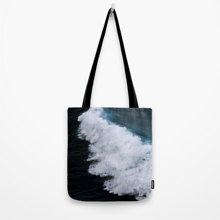 Powerful breaking wave in the Atlantic Ocean - Landscape Photography Tote Bag