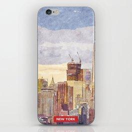 New York city skyline iPhone Skin
