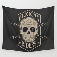 mexican Wall Tapestries featuring mexican riders by Taranta Babu