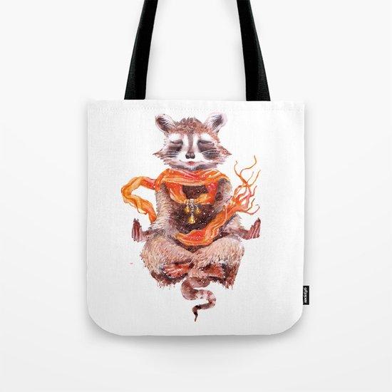 Raccoon buddha w Tote Bag