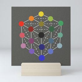 Colour cube (black point) from the Manual of the science of colour by W. Benson, 1871, Remake Mini Art Print