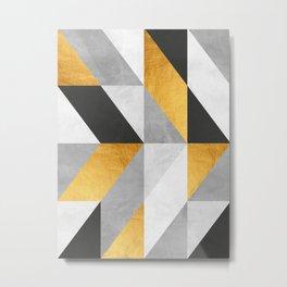 Golden Geometric Art Metal Print