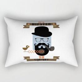 It's Hipster to be Square Rectangular Pillow