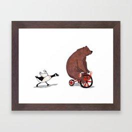Bear and Goose Framed Art Print