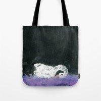 black swan Tote Bags featuring Swan by YAZZIK