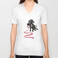 puppy V-neck T-shirts featuring puppy by jotavé