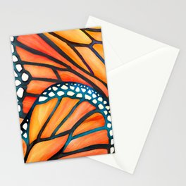 Monarch Butterfly Wings Watercolor Abstract Stationery Cards