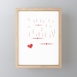 Relationship Mentally Dating A Fictional Character Framed Mini Art Print