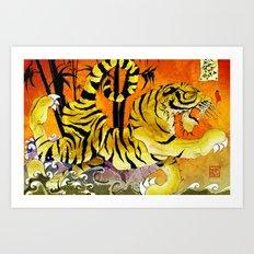 Tiger River Art Print