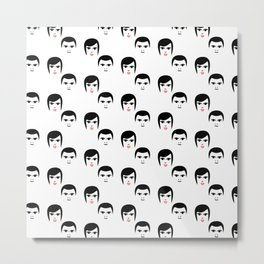 Faces retro pattern Metal Print