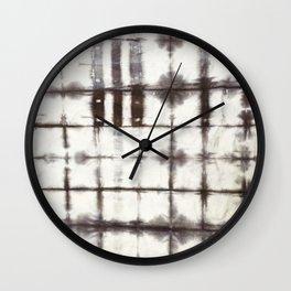 Shibori Dye Wall Clock