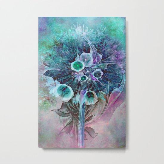 Fractal Bouquet Metal Print