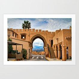 Moorish archway, Cabrera, Andalucia, Spain. Art Print
