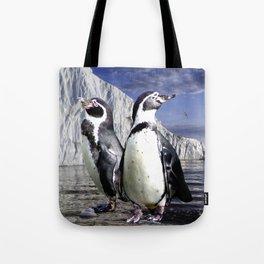 Penguins and Glacier Tote Bag