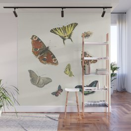 Ensemble de papillons  {II/II} Wall Mural