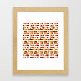 Sushi vibes Framed Art Print
