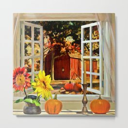 Autumn Harvest Painting by Liane Wright Metal Print