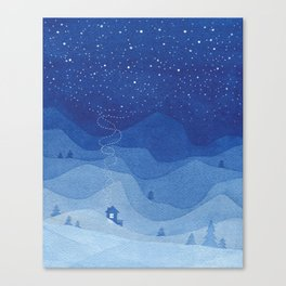 Stars factory, blue Canvas Print
