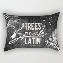 The Trees Speak Latin - Raven Boys Rectangular Pillow