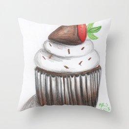 Cupcake Drawing Throw Pillow