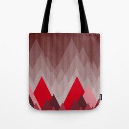 Triangular Mountain Range Tote Bag