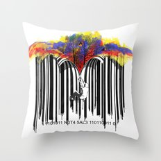 unzip the colour code Throw Pillow