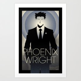Phoenix Wright - 10th Anniversary Print Art Print