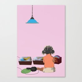 two turntables Canvas Print