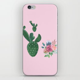 live loud with floral iPhone Skin