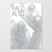 hetalia Canvas Prints featuring hetalia rusAme palo alto by Hellacrappy