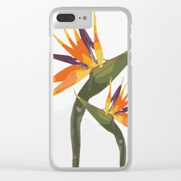 Paradise Flower Clear iPhone Case