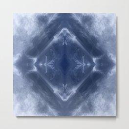 Indigo Diamond Metal Print
