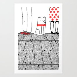 At The Party Art Print