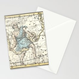 Constellations Ophiuchus and Serpents, Celestial Atlas Plate 9, Alexander Jamieson Stationery Cards