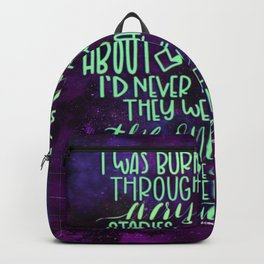 Burning Through Books (ACOMAF) Backpack
