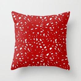 Red Freeform Throw Pillow