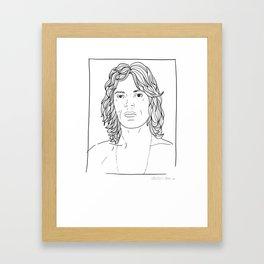 ANDY WARHOL POLAROIDS - MICK J.  PORTRAIT    Framed Art Print