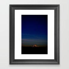 Wintery Sunset Framed Art Print