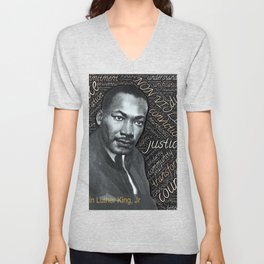 Martin Luther King Unisex V-Neck