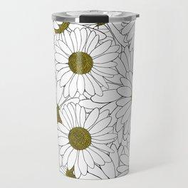 Daisy Yellow Travel Mug
