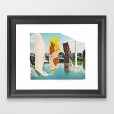 the triumph of wit over suffering Framed Art Print
