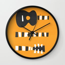 Retro Guitar Wall Clock